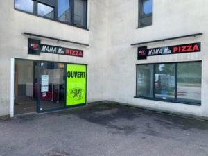 enseigne-panneau-dibond-habillage-vitrine-pizzeria-mama-mia-thionville