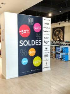Boutique IOU - support publicitaire et signalétique - Thionville