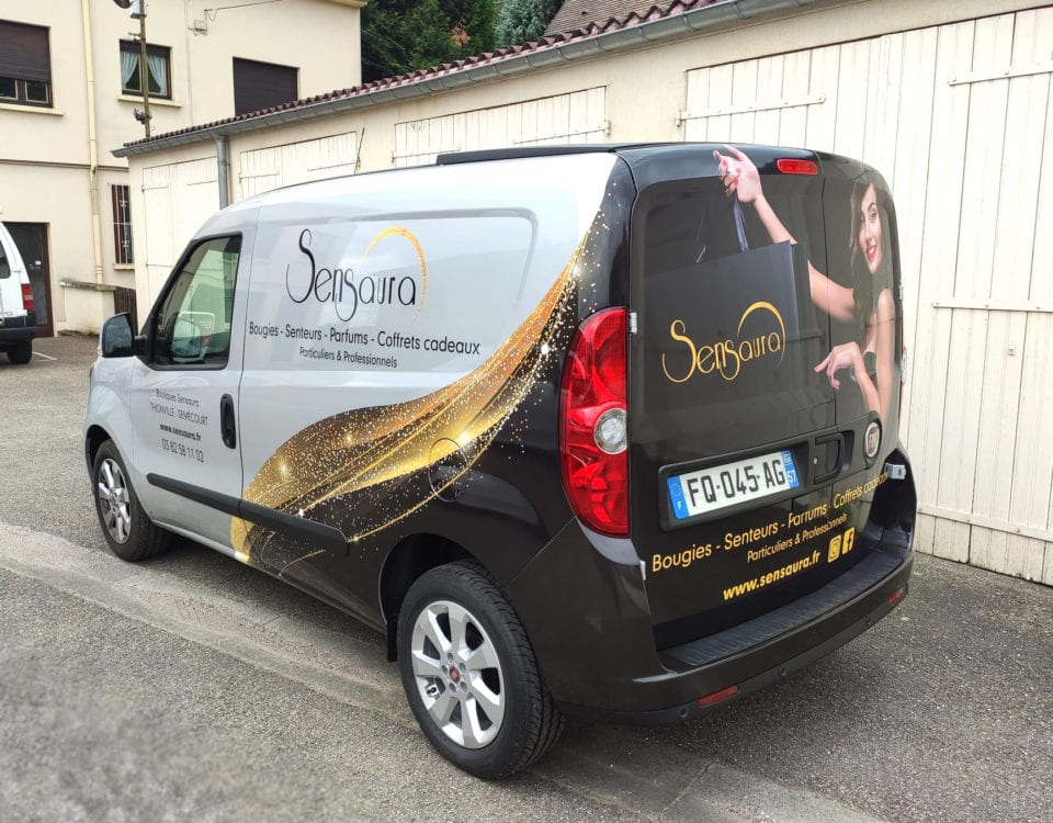 Sensaura covering, marquage, adhesif, logotage, utilitaire, camionnette