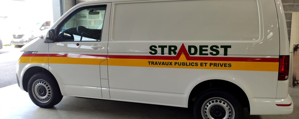 Stradest, covering, marquage, adhesif, logotage, utilitaire, camionnette