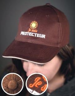 impression textile flocage casquette-floque-marque-pub-logo-lookline-metz